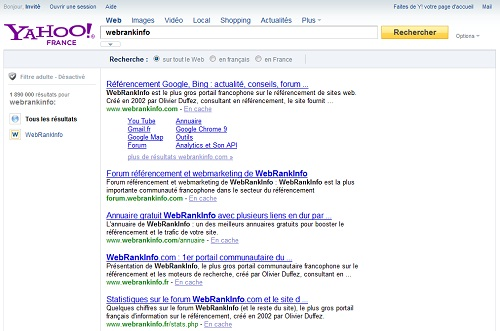 Yahoo France Powered by Bing